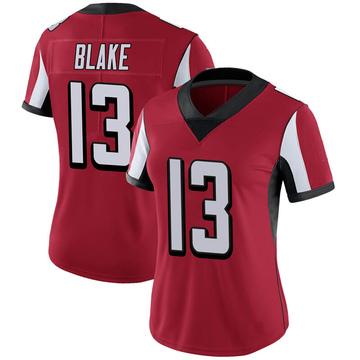 Women's Nike Atlanta Falcons Christian Blake Red Team Color Vapor Untouchable Jersey - Limited
