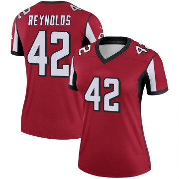 Women's Nike Atlanta Falcons Craig Reynolds Red Jersey - Legend