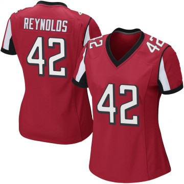 Women's Nike Atlanta Falcons Craig Reynolds Red Team Color Jersey - Game