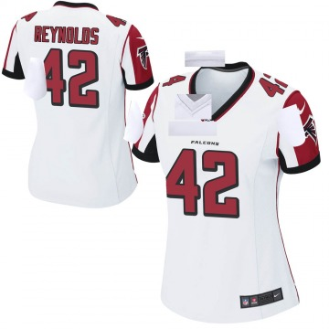 Women's Nike Atlanta Falcons Craig Reynolds White Jersey - Game