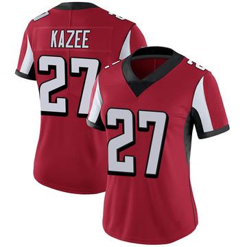 Women's Nike Atlanta Falcons Damontae Kazee Red 100th Vapor Jersey - Limited