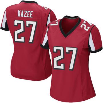 Women's Nike Atlanta Falcons Damontae Kazee Red Team Color Jersey - Game