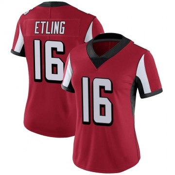Women's Nike Atlanta Falcons Danny Etling Red 100th Vapor Jersey - Limited