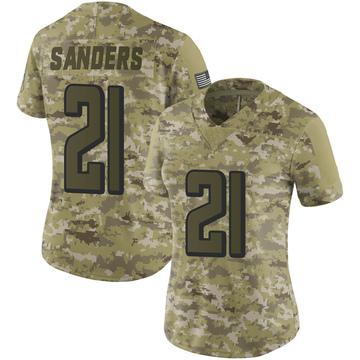Women's Nike Atlanta Falcons Deion Sanders Camo 2018 Salute to Service Jersey - Limited