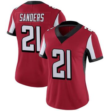 Women's Nike Atlanta Falcons Deion Sanders Red 100th Vapor Jersey - Limited