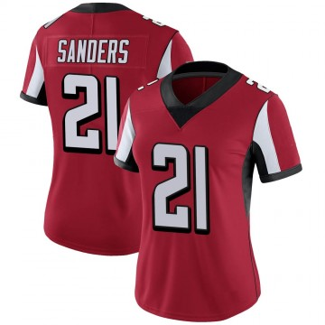 Women's Nike Atlanta Falcons Deion Sanders Red Team Color Vapor Untouchable Jersey - Limited