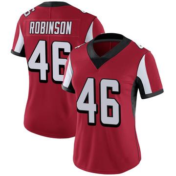 Women's Nike Atlanta Falcons Edmond Robinson Red 100th Vapor Jersey - Limited