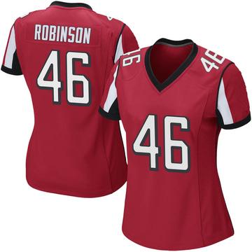 Women's Nike Atlanta Falcons Edmond Robinson Red Team Color Jersey - Game