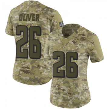 Women's Nike Atlanta Falcons Isaiah Oliver Camo 2018 Salute to Service Jersey - Limited