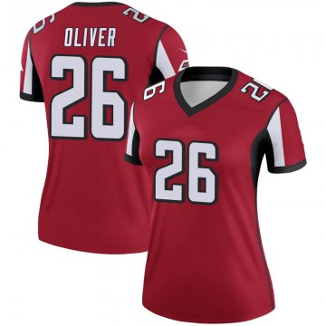 Women's Nike Atlanta Falcons Isaiah Oliver Red Jersey - Legend