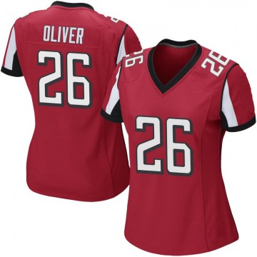 Women's Nike Atlanta Falcons Isaiah Oliver Red Team Color Jersey - Game