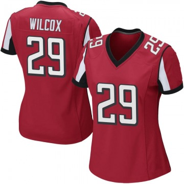 Women's Nike Atlanta Falcons J.J. Wilcox Red Team Color Jersey - Game
