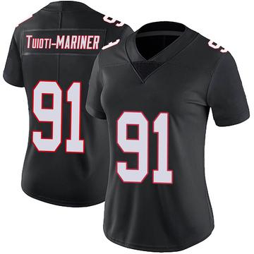 Women's Nike Atlanta Falcons Jacob Tuioti-Mariner Black Vapor Untouchable Jersey - Limited