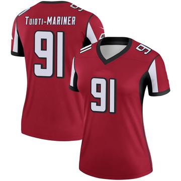 Women's Nike Atlanta Falcons Jacob Tuioti-Mariner Red Jersey - Legend