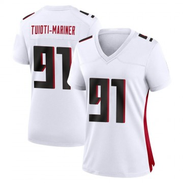 Women's Nike Atlanta Falcons Jacob Tuioti-Mariner White Jersey - Game