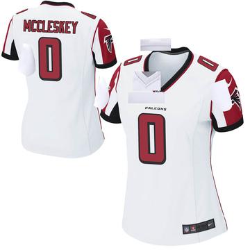 Women's Nike Atlanta Falcons Jalen McCleskey White Jersey - Game