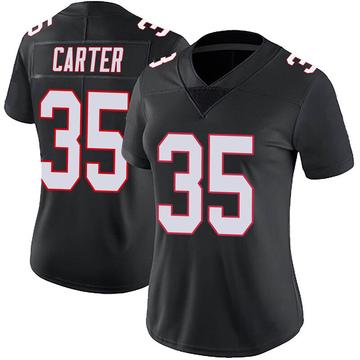 Women's Nike Atlanta Falcons Jamal Carter Black Vapor Untouchable Jersey - Limited