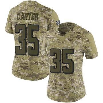 Women's Nike Atlanta Falcons Jamal Carter Camo 2018 Salute to Service Jersey - Limited