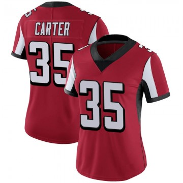 Women's Nike Atlanta Falcons Jamal Carter Red 100th Vapor Jersey - Limited