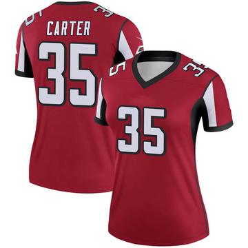 Women's Nike Atlanta Falcons Jamal Carter Red Jersey - Legend