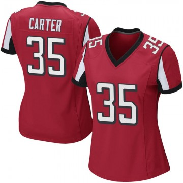 Women's Nike Atlanta Falcons Jamal Carter Red Team Color Jersey - Game