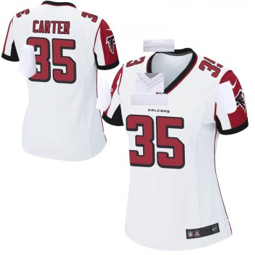 Women's Nike Atlanta Falcons Jamal Carter White Jersey - Game