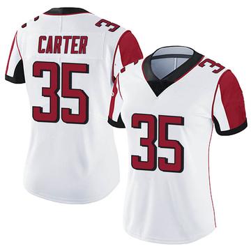 Women's Nike Atlanta Falcons Jamal Carter White Vapor Untouchable Jersey - Limited