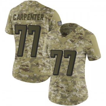 Women's Nike Atlanta Falcons James Carpenter Camo 2018 Salute to Service Jersey - Limited