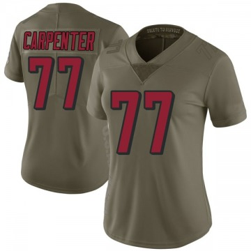 Women's Nike Atlanta Falcons James Carpenter Green 2017 Salute to Service Jersey - Limited