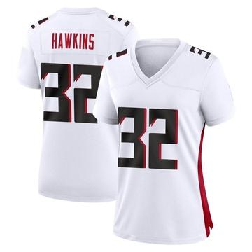 Women's Nike Atlanta Falcons Jaylinn Hawkins White Jersey - Game