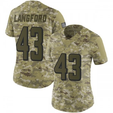 Women's Nike Atlanta Falcons Jeremy Langford Camo 2018 Salute to Service Jersey - Limited