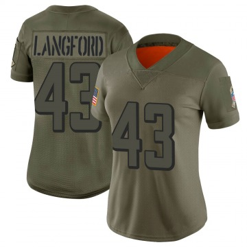 Women's Nike Atlanta Falcons Jeremy Langford Camo 2019 Salute to Service Jersey - Limited