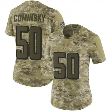 Women's Nike Atlanta Falcons John Cominsky Camo 2018 Salute to Service Jersey - Limited