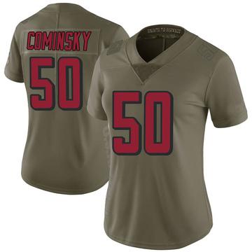 Women's Nike Atlanta Falcons John Cominsky Green 2017 Salute to Service Jersey - Limited
