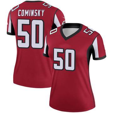 Women's Nike Atlanta Falcons John Cominsky Red Jersey - Legend