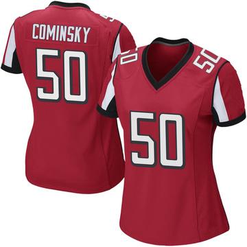 Women's Nike Atlanta Falcons John Cominsky Red Team Color Jersey - Game