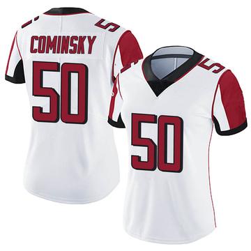 Women's Nike Atlanta Falcons John Cominsky White Vapor Untouchable Jersey - Limited