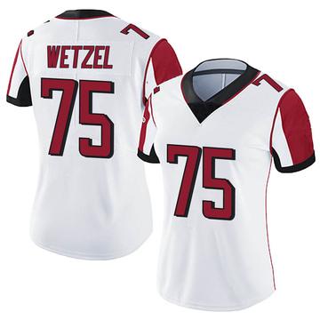 Women's Nike Atlanta Falcons John Wetzel White Vapor Untouchable Jersey - Limited