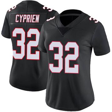 Women's Nike Atlanta Falcons Johnathan Cyprien Black Vapor Untouchable Jersey - Limited
