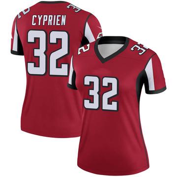 Women's Nike Atlanta Falcons Johnathan Cyprien Red Jersey - Legend