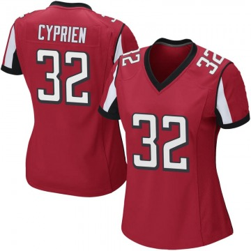 Women's Nike Atlanta Falcons Johnathan Cyprien Red Team Color Jersey - Game