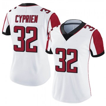 Women's Nike Atlanta Falcons Johnathan Cyprien White Vapor Untouchable Jersey - Limited