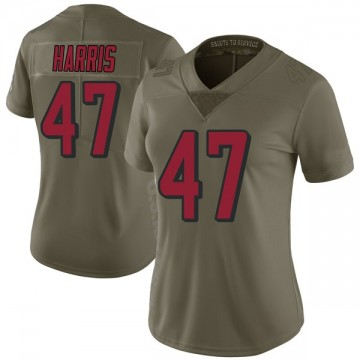 Women's Nike Atlanta Falcons Josh Harris Green 2017 Salute to Service Jersey - Limited