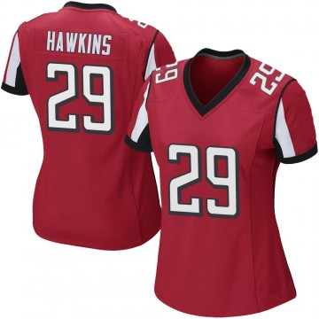 Women's Nike Atlanta Falcons Josh Hawkins Red Team Color Jersey - Game