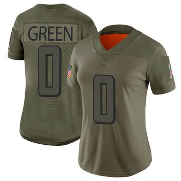 Women's Nike Atlanta Falcons Juwan Green Green Camo 2019 Salute to Service Jersey - Limited