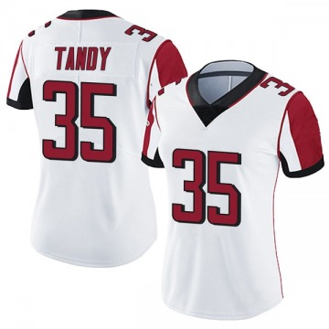 Women's Nike Atlanta Falcons Keith Tandy White Vapor Untouchable Jersey - Limited