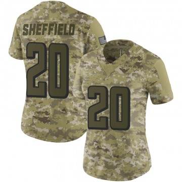 Women's Nike Atlanta Falcons Kendall Sheffield Camo 2018 Salute to Service Jersey - Limited