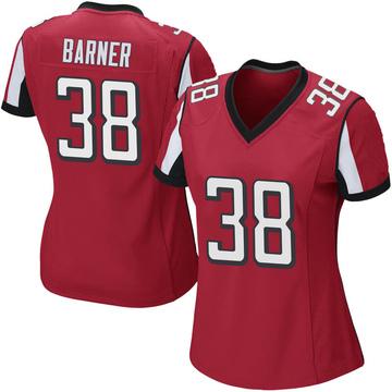 Women's Nike Atlanta Falcons Kenjon Barner Red Team Color Jersey - Game