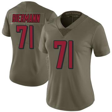 Women's Nike Atlanta Falcons Kroy Biermann Green 2017 Salute to Service Jersey - Limited
