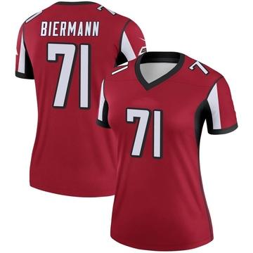 Women's Nike Atlanta Falcons Kroy Biermann Red Jersey - Legend